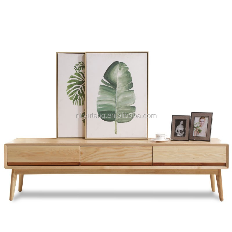 Nature Houseware Solid Wooden TV Stand Wood TV Stand With Storage