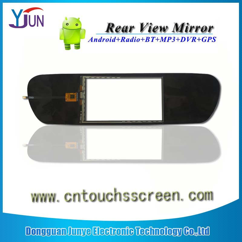 New product 5.0 inch Touch Screen car rearview mirror monitor, dvr car kits, car rear view camera