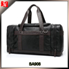 PU Leather Travel Tote Bag Duffel Weekender Bag Black And Brown