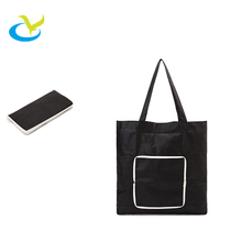 New tote recycle eco-friendly PP non woven foldable advertising green shopping packaging bag for supermaket