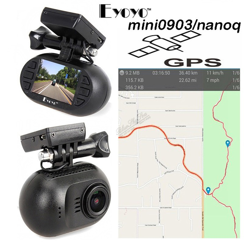 2016 EYOYO Capacitor 7G Night Vision GPS 1080p HD Wifi Car Camera Mini 0903/nanoq DashCam