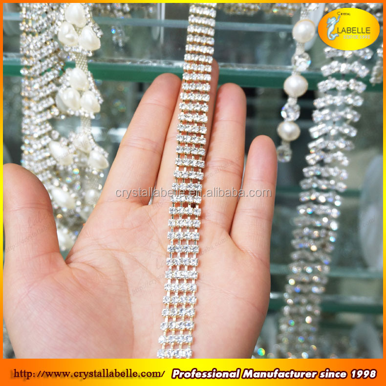 10 Yards Crystal Cup Chain Crystal Trimming For Wedding Dress