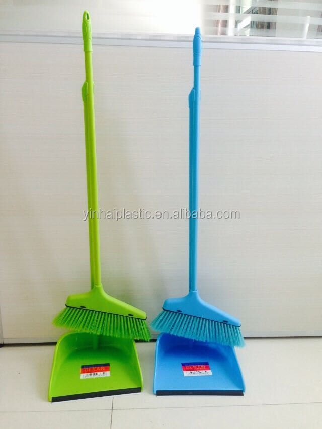 Long handle houseware plastic Cleaning Broom and dustpan set KX-866