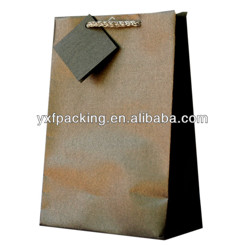 Medium Pearl Gift Bag Chocolate Brown