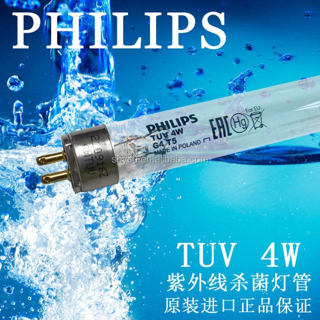 Philips UV lamps 254nm for water treatment TUV 4W T5 G5 UVC