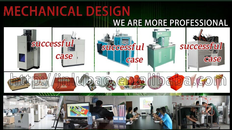 Environmental friendly automatic paper lunch box foming machine for fast food take away