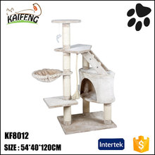wooden KaiFeng hot selling cat scratcher toys, funny cat activity condo furniture cat climbing tree frame