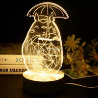 new arrival animal design 3d touch home decor table lamp decoration fairy led lights for gift