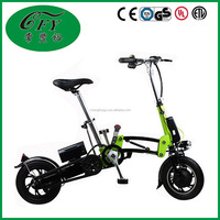 Custom Green Portable Li-battery Electronic Bike