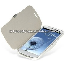 White Hybrid Book-Style Leather Case for Samsung Galaxy S3/i9300