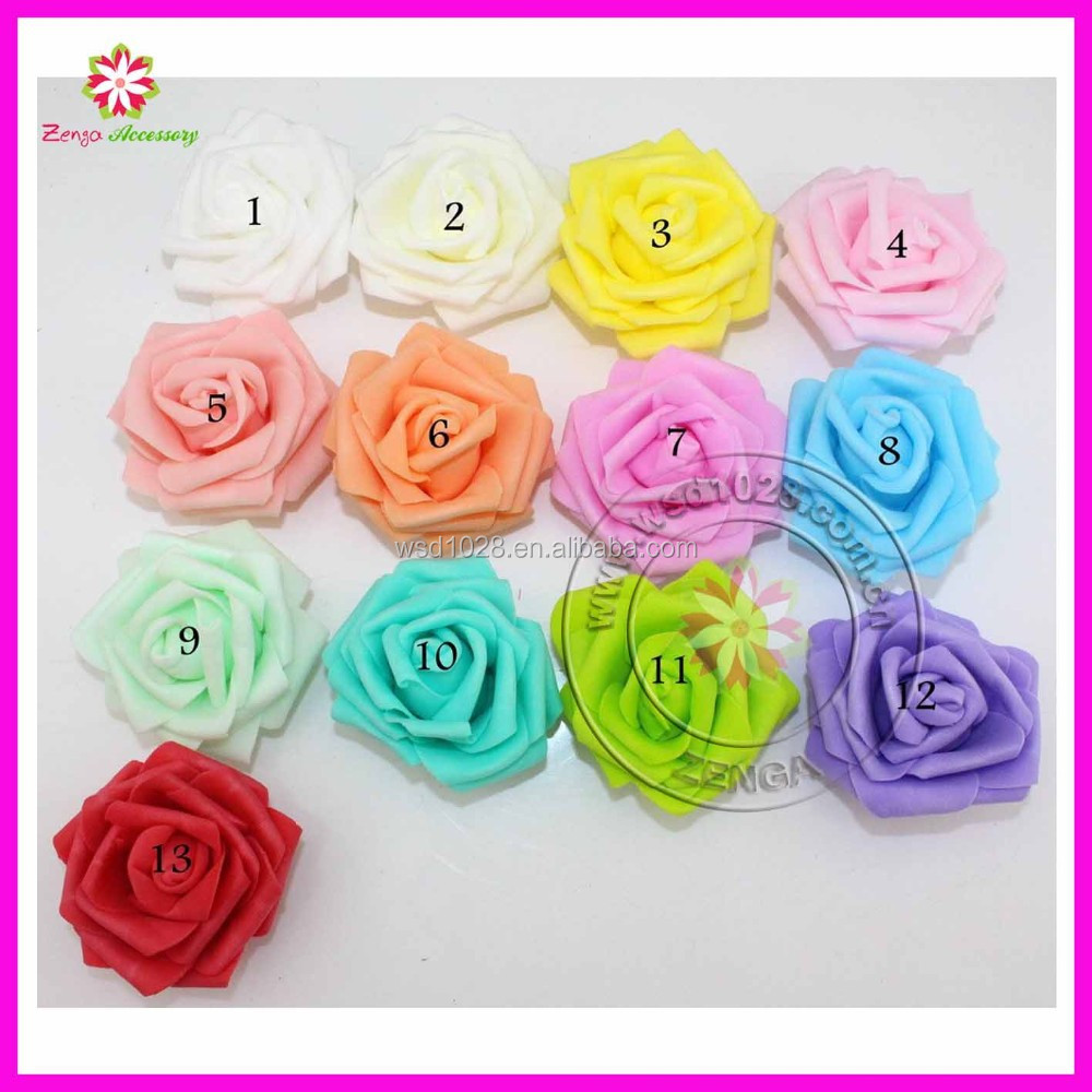 6cm head Multicolor handmade 5 layer thicken pe foam rose flower head artificial rose flowers(50pcs)