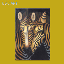 Home Decoration Items New Style Zebra Abstract Oil Painting on Canvas African Art