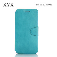 leather mobile phone case for lg g3 VS985 phone, for lg g3 VS985 case cover