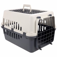 Small Two Doors Pet Carrier Kennel Portable Crate Cage