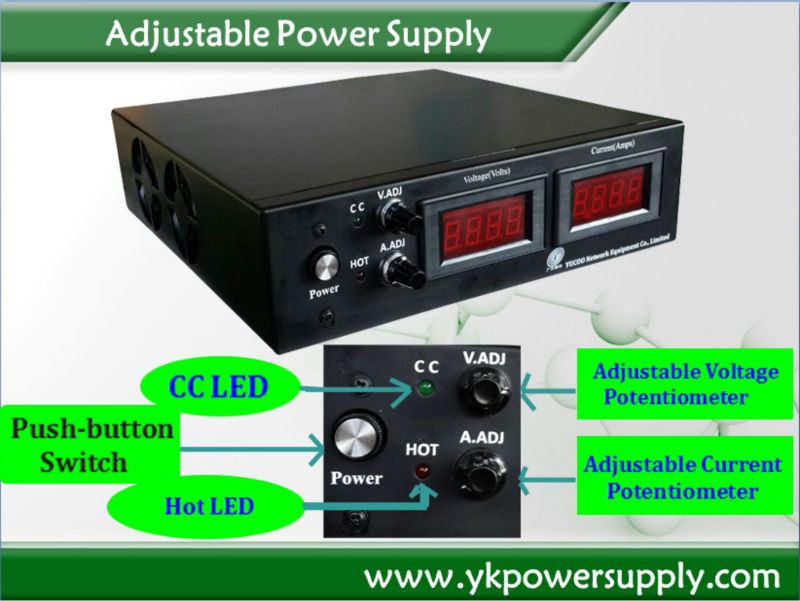 CE approved 30V ac dc adjustable power supply
