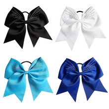Fashion Hair Bow Girls Ribbon Bow Hair With Elastic Band