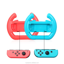 Left and Right Racing Steering Wheel for Nintendo Switch Console Gaming Accessory Color Red and Blue