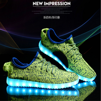 Basketball Sports Colorful Light Up Men Chaussure Glowing Casual Led Shoes