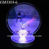 Wholesale glass desk decor with a color changing snowman on the mirror