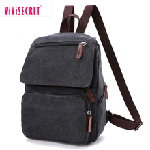 Plain color cotton bagpack unique book bags cool backpack for boys