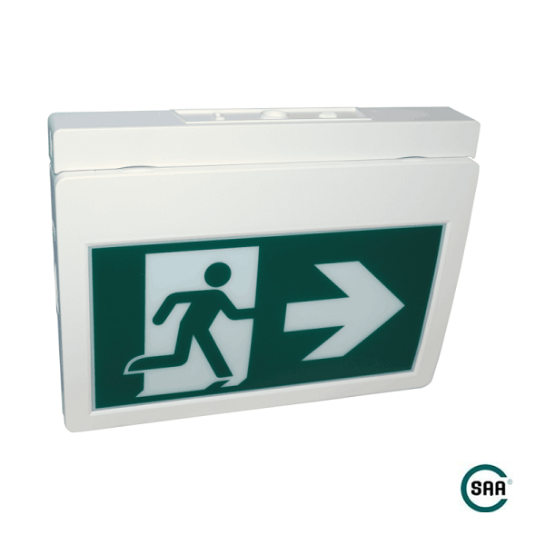 High-reliable SAA Ceiling Mounted Pictogram Running Man Exit Sign