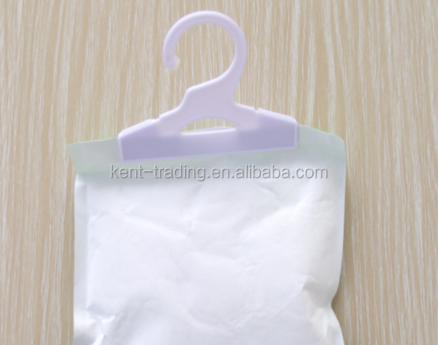 China Supplier Closet Air Purify Humidity Absorber Bag With Hanger