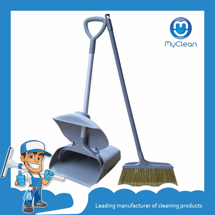 Myclean clean soft broom with iron stick