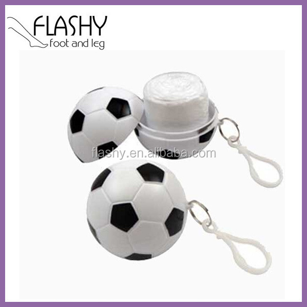 Promotional Football Shaped Raincoat Rain Poncho In Ball