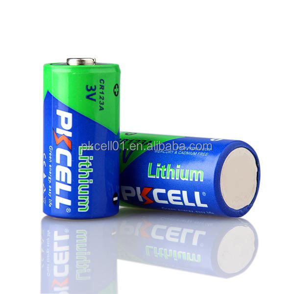 battery 3 volt 123a battery 3v non rechargeable cr123a lithium battery for Electronic meter