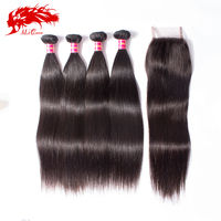 High quality raw peruvian straight human hair weave mongolian hair extensions