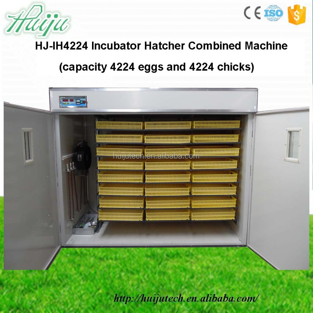 CE-approved 4224 chciken egg incubator hatcher combined machines HJ-IH4224