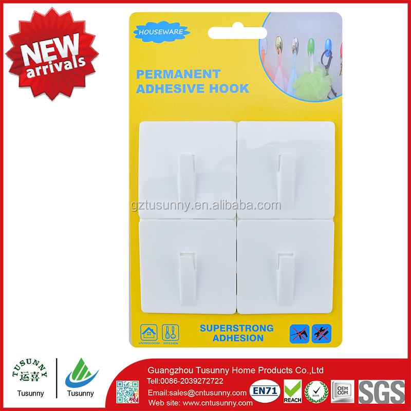 self-adhesive removable plastic bath shower hooks