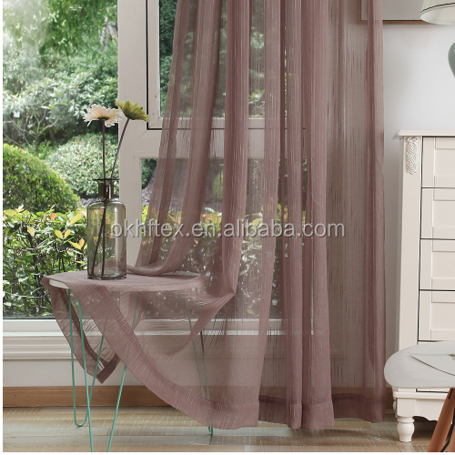 Ready made expensive style sheer drapery for home sheer curtain