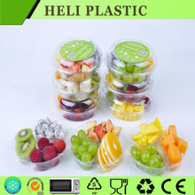 Disposable round plastics fresh fruit trays
