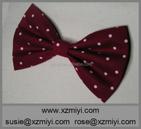 Red with polka dots Bow Bow for girls and teens women hair bow fabric bow