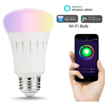WiFi Smart LED Light Bulb Works with Amazon Echo Alexa Smartphone Wireless Remote Control Dimmable Multicolored Color Lights