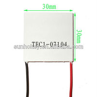 TEC1-07104 8.5V 4A 30*30MM 28.8W Thermoelectric Cooler Peltier Plate Semiconductor