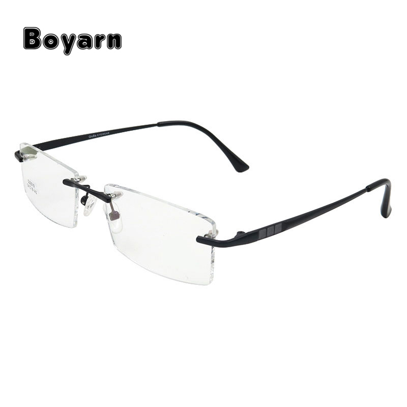 Rimless Eyeglasses Frame for Men Rimless Alloy Eyewear Glasses