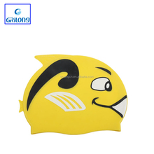 Pure silicone swimming caps for kids