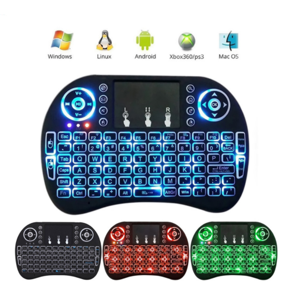 With Backlight MINI I8 Mini Wireless Keyboard gaming Remote control 2.4G fly Game Air Mouse for Android TV BOX Laptop Backlit