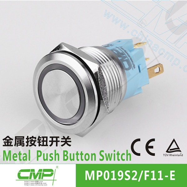 CMP waterproof common anode/cathode bi-color led push button switch