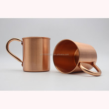 high quality manufacturer custom moscow mule mug, pure solid copper mugs for moscow mule