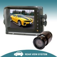 5 inch vehicle rear view camera system with touch button monitor