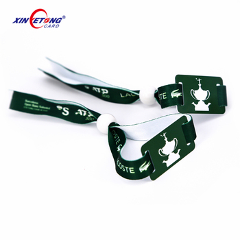 2019 High Quality Event TAG 213 TAG 215 Festival Wristbands/Woven Polyester Bracelets/Fabric woven Wristbands