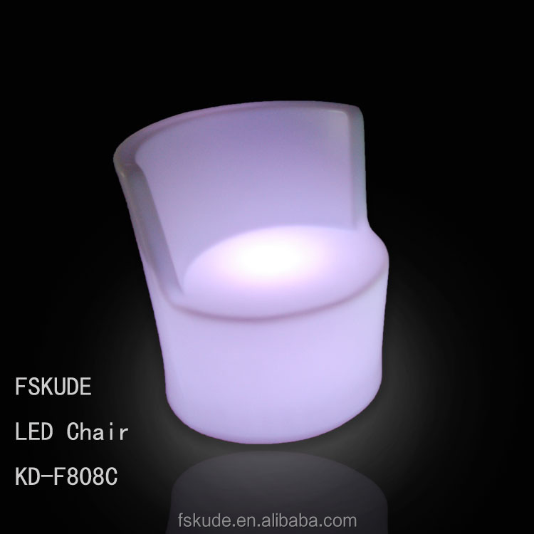 RGB rechargeable plastic led furniture led coffee chair