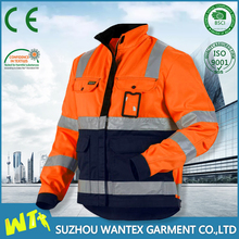high visibility Reflective Safety Heavy military Parkas warming winter man parka jacket clothing meets EN471