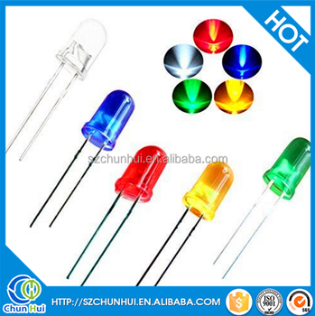 2017 Ultra Bright Red Green Blue White Yellow 3Mm Led Round
