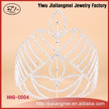 Fashion Jewelry Women Wear Tall Miss World Crown and Tiara for Girls Party Dresses