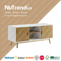 thicken MDF wood led wood tv stand model