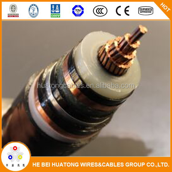 UL listed single core water proof MV-90 15kv #2 cable price